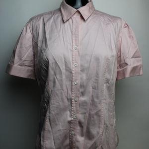 MERONA Shirt Button Down Women's SIZE LARGE Pink